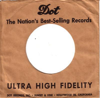 Dot 45 Sleeve 1956 - 1958/ Usa Original Company Sleeve