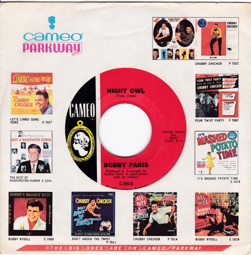 Bobby Paris - Night Owl / Tears Of My Pillow - Cameo C-396