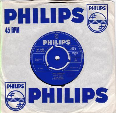 Elton John - Lady Samantha / All Across The Havens - Philips BF 1739