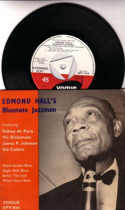 Edmond Hall's Bluenote Jazzmen/ 1956 Uk 4 Track Ep With Cover