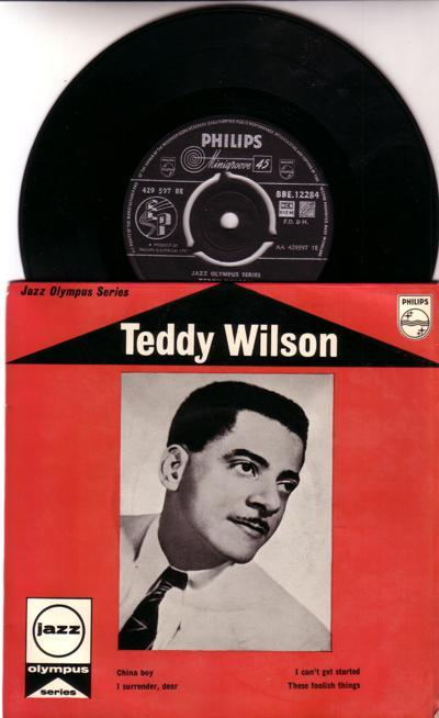 Teddy Wilson At The Piano/ 1957 Uk 4 Track Ep With Cover