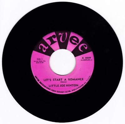 Little Joe Hinton - Let's Start A Romance - Arvee