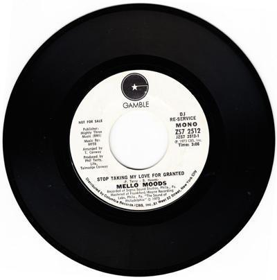 Stop Taking My Love For Grant/ Same: 3.06 Stereo Version