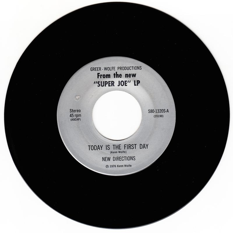 New Directions - Today Is The First Day / Dance Dance Dance (Please Mr. D. J.) - Greer - Greer - Wolfe Productions s80-1320S