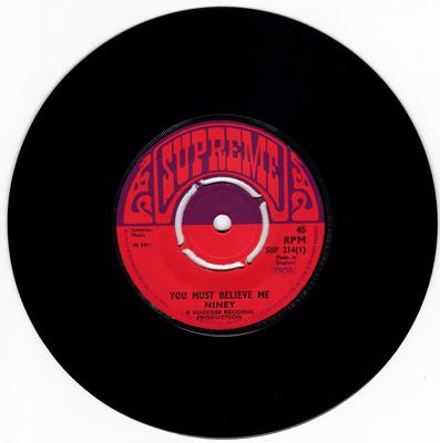 Niney c/w Rupie Edwards Allstars - You Must Believe Me / Funk The Funk - Supreme SUP 214