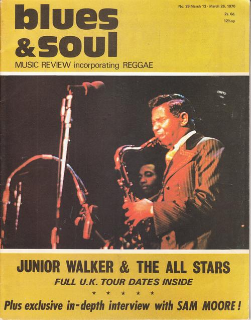 Blues & Soul March 13 1970/ Jr. Walker Uk Tour Dates