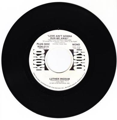 Image for Love Ain't Gonna Run Me Away/ Same: 4.06 Mono Version