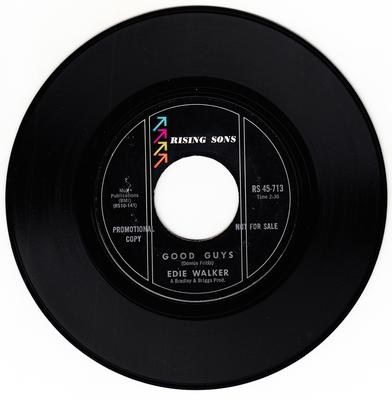 Edie Walker - Good Guys / Young Tears Don't Fall Forever - Rising Sons  RS 713 DJ