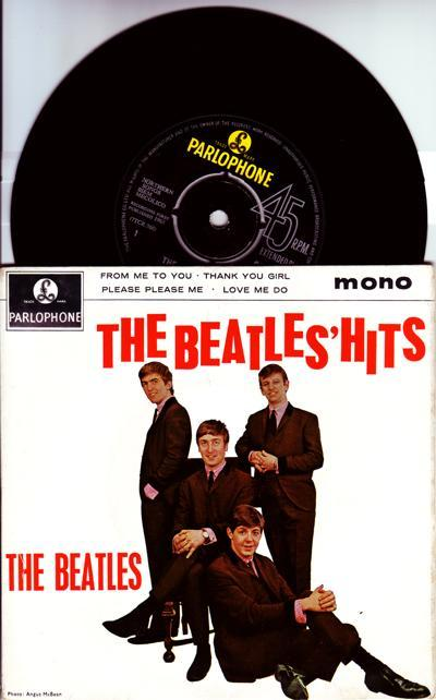 The Beatles' Hits/ Original 1963 Uk Ep With Cover