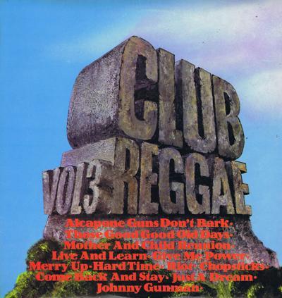 Club Reggae Volume 3/ Original 1972 Uk Press