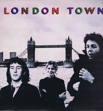 London Town/ 1978 Uk Press With Poster
