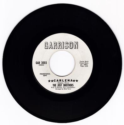 Just Brothers - Carlena / She Broke His Heart - Garrison GAR 3003 DJ