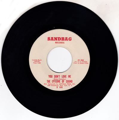 Epitome Of Sound - You Don't Love Me / Where Were You - Sandbag S 101