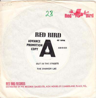 Shangri Las - Out In the Streets / The Boy - Red Bird RB10 025 DJ