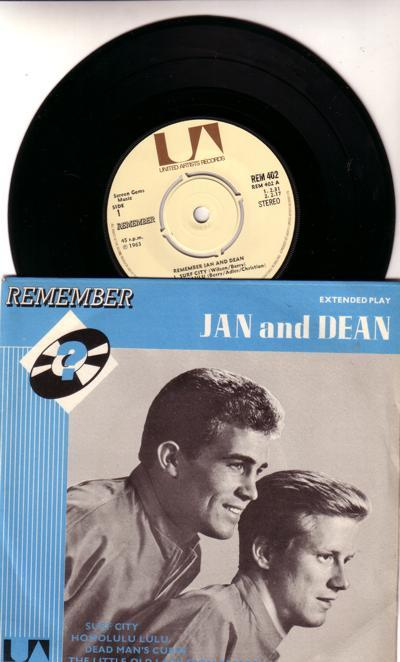 Remember Jan And Dean/ 1970s 4 Track Ep With Cover