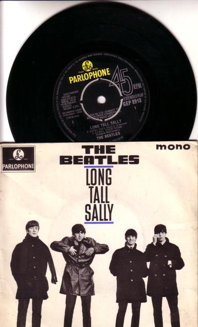 Long Tall Sally/ 64 Uk 1st Press Ep With Cover