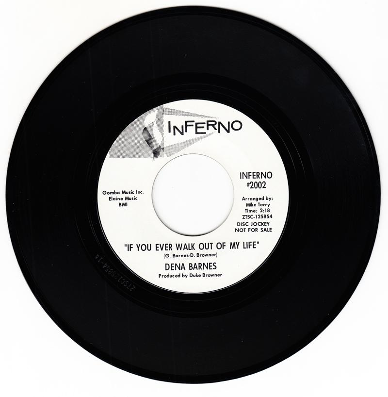 Dena Barnes - If You Ever Walk Out Of My Life / Who Am I - Inferno 2002 DJ