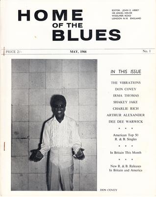Home Of The Blues # 1 - May 1966 1st. issue / Vibrations, Irma Thomas, Don Covey, Arthur Alexander etc. - Home Of Te Blues #1