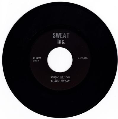 Bobby Raveen & Black Sweat - Disco Africa / How Long Will It Be - Sweat Inc. 5-4-1542