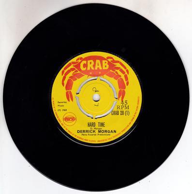 Derrick Morgan - Hard Time / Death Rides A Horse - MANSHIP MINT - Crab 28
