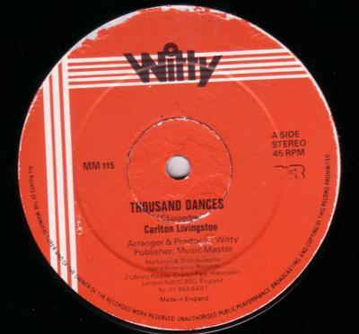 Image for Thousand Dances/ Why You Did It