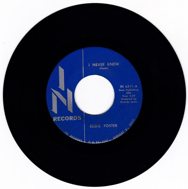 Eddie Foster - I Never Knew / I Will Wait - In 6311