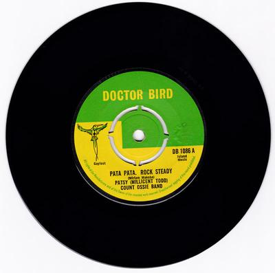 Patsy (Millicednt Todd) with the Count Ossie Band - Pata Pasta Rock Steady / Nyiah Bongo - Doctor Bird DB 1086