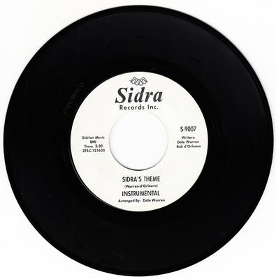 Ronnie & Robyn - Sidra's Theme / Blow Out The Candle  - Sidra S 9007 DJ