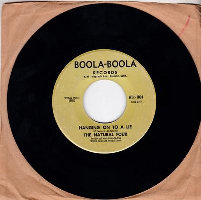 Natural Four - Hanging On To A Lie / Twelve Months Of The Year - Boola-Boola W.H. 1002