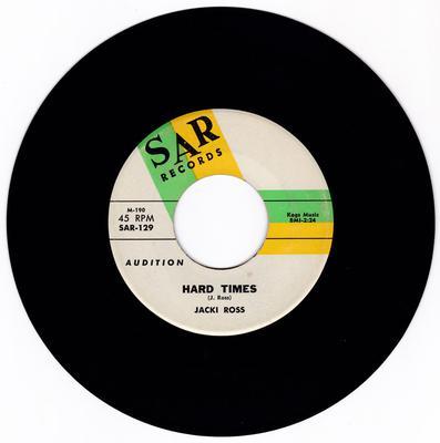 Jacki Ross - Hard Times / Hold Me - Sar 129 DJ