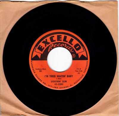 Lightnin' Slim - I'm Tired Waitin' Baby / Hellow Mary Lee - Excello 2203