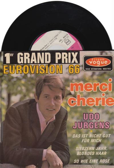 Merci Cherie/ 1966 French 4 Track Ep + Cover