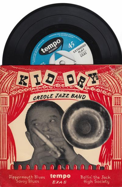 Creaole Jazz Band/ 1950s 4 Track Ep With Cover