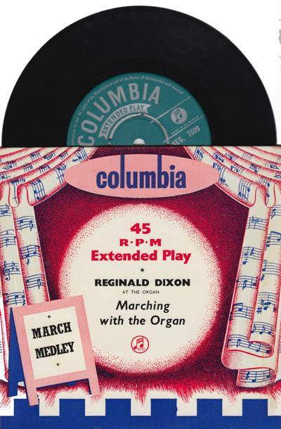 Marching With The Organ/ 1955 Uk 4 Track Ep With Cover