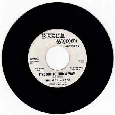 Gallahads - I've Got To Find A Way / Once I Had A Love - Beech Wood Promo