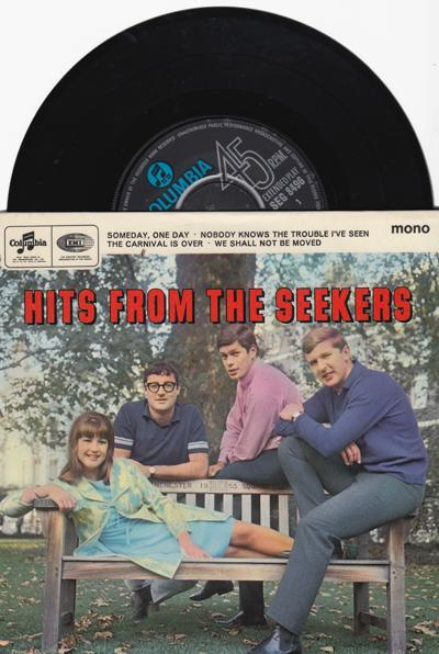 Hits From The Seekers/ 1966 Uk 4 Track Ep With Cover