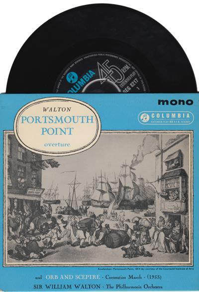 Overture - Portsmouth Point/ 1963 Uk 4 Track Ep With Cover