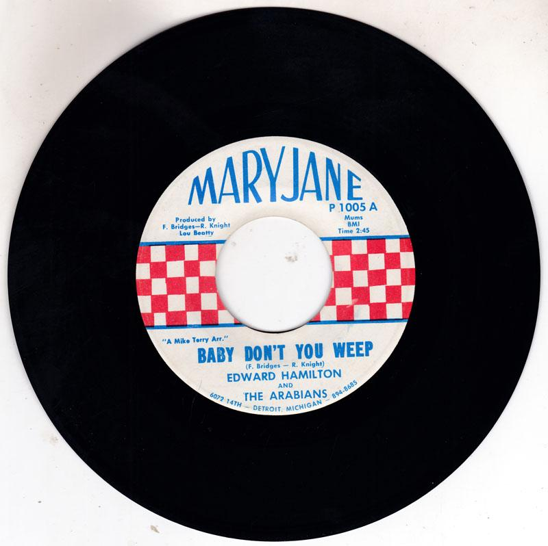 Edward Hamilton - Baby Don't You Weep / Tell Me - Mary Jane P 1005