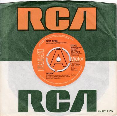 David Bowie - Sorrow / Amsterdam - UK RCA 2424 Promo
