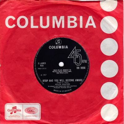Helen Shapiro - Stop And You Will Become Aware - Columbia DB 8256