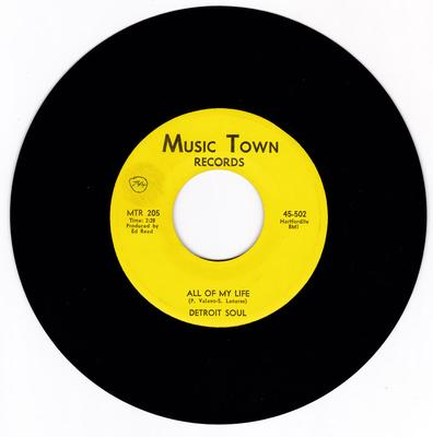Detroit Soul - All Of My Life / Mister Hip - Music Town MTR 502