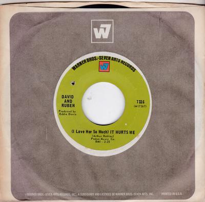 David & Ruben - (I Love Her So Much) It Hurts Me / Girl Of My Dreams - Warner Bros 7316