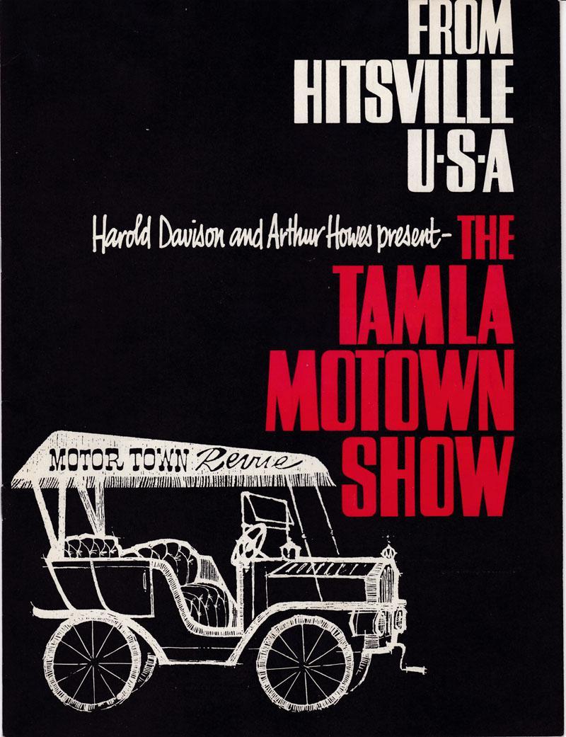 Tamla Motown Show - From Hitsville USA / 1965 Tour Program - Tamla Motown TP 1965
