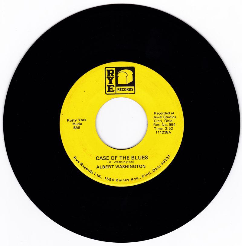 Albert Washington - A Case Of The Blues - Rye