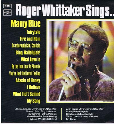 Roger Whittaker Sings/ 1971 Uk Press In Texture Cover