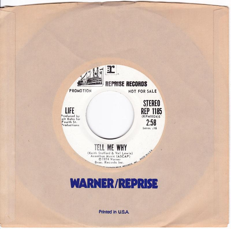 Life - Tell Me Why / stereo 2:54 version - Reprise REP 1185