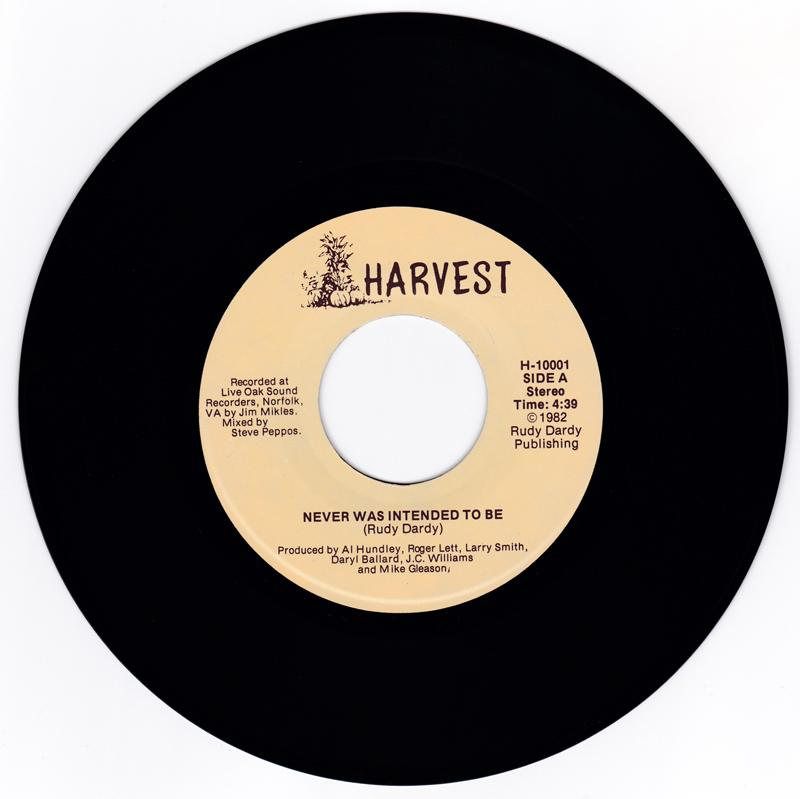 Rudy Dardy - Never Was Intended To Be / Searching For Love - Harvest H-1001