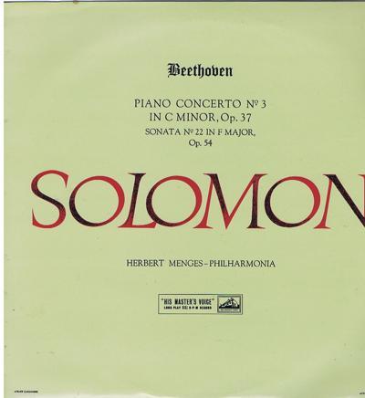Beethoven Concerto No. 3 In C. Minor/ Original 1958 Uk Press