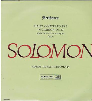 Image for Beethoven Concerto No. 3 In C. Minor/ Original 1958 Uk Press