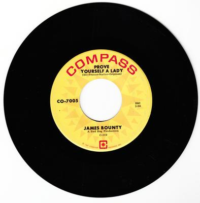James Bounty - Prove Yourself as Lady / Life Will Begin Again - Compass CO-7005